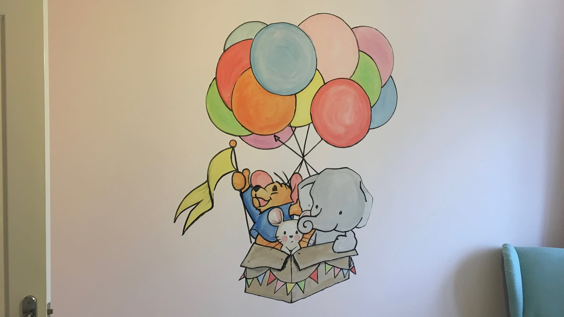 Roo & Friends Nursery Mural
