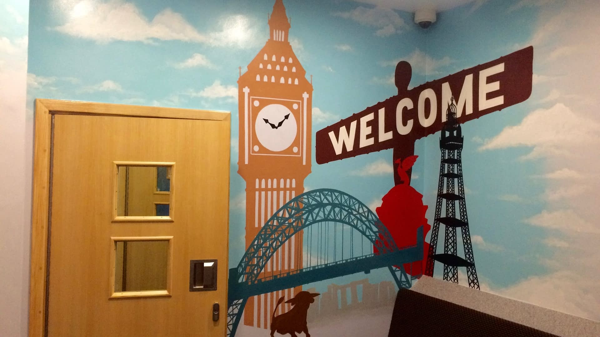 Welcome Wall Mural