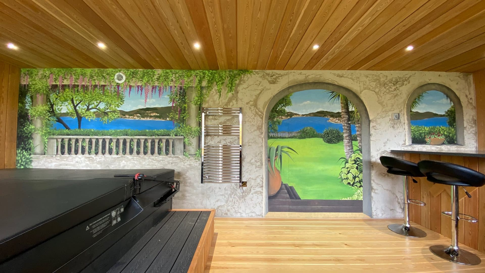 Garden / Hot Tub Room Mural