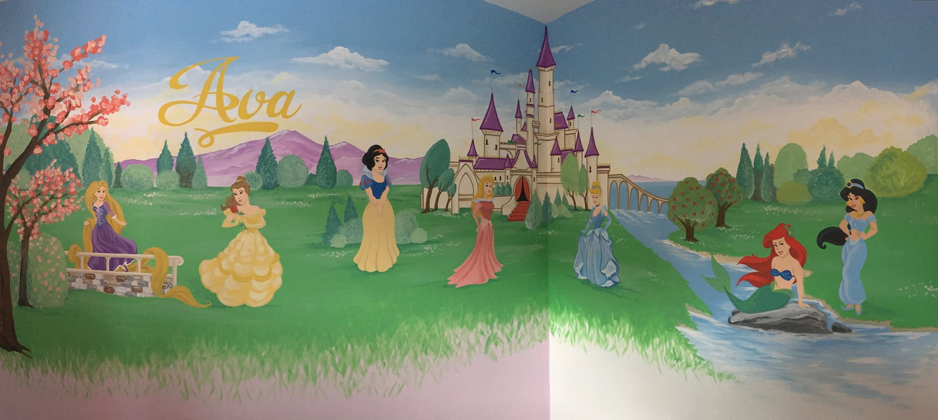 Disney Princesses and castle