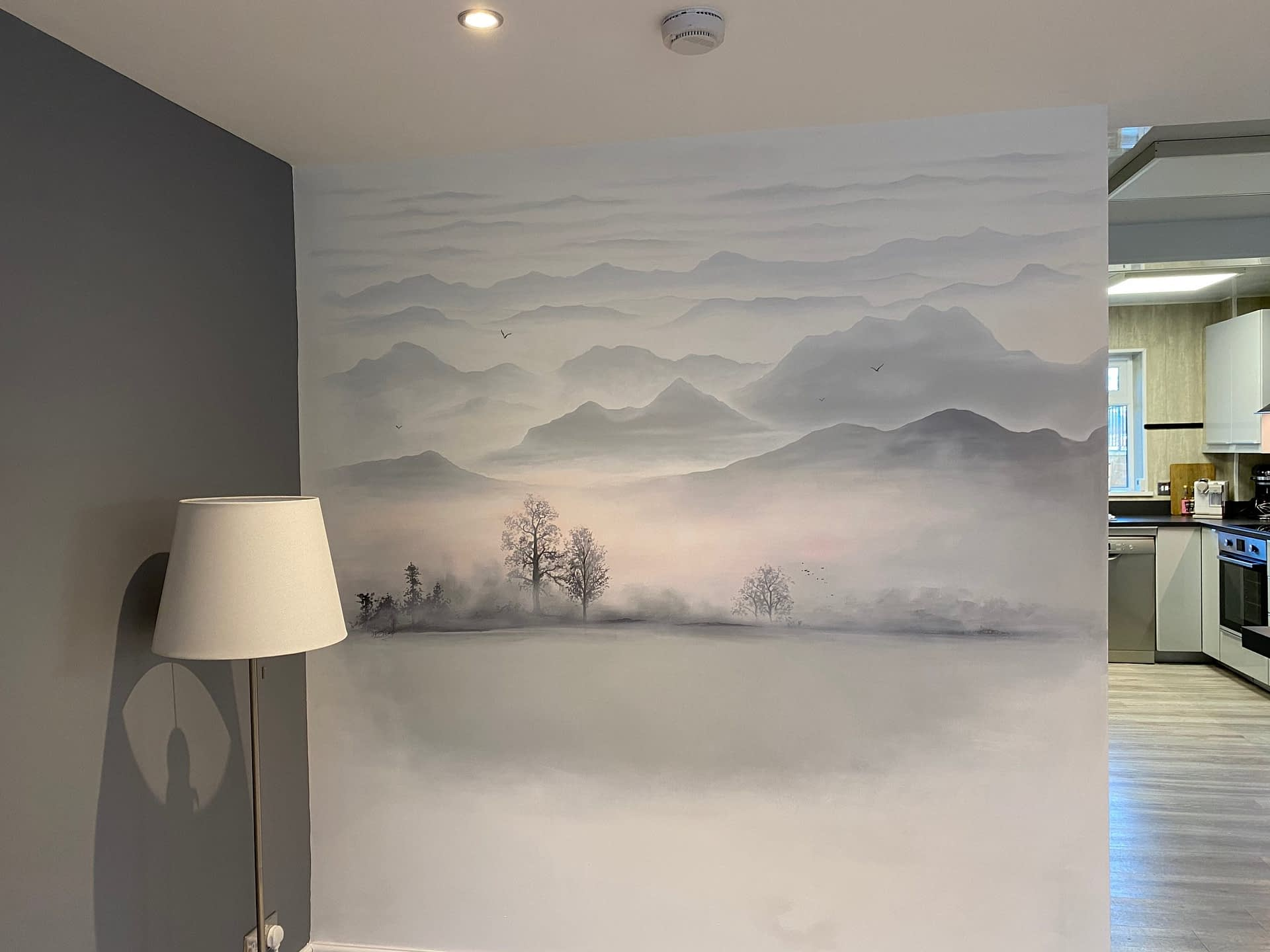 Misty Morning Feature Wall