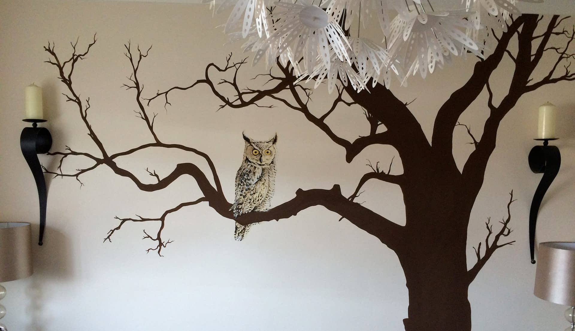 Tree and Owl Mural
