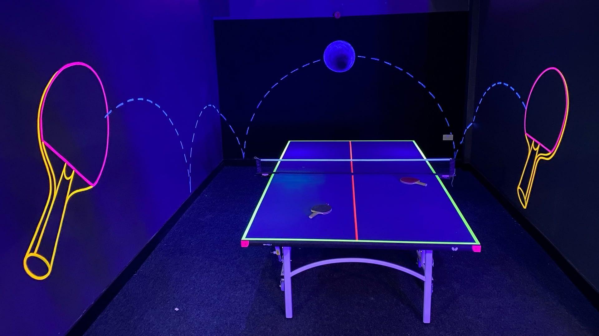 War Room Neon Ping Pong