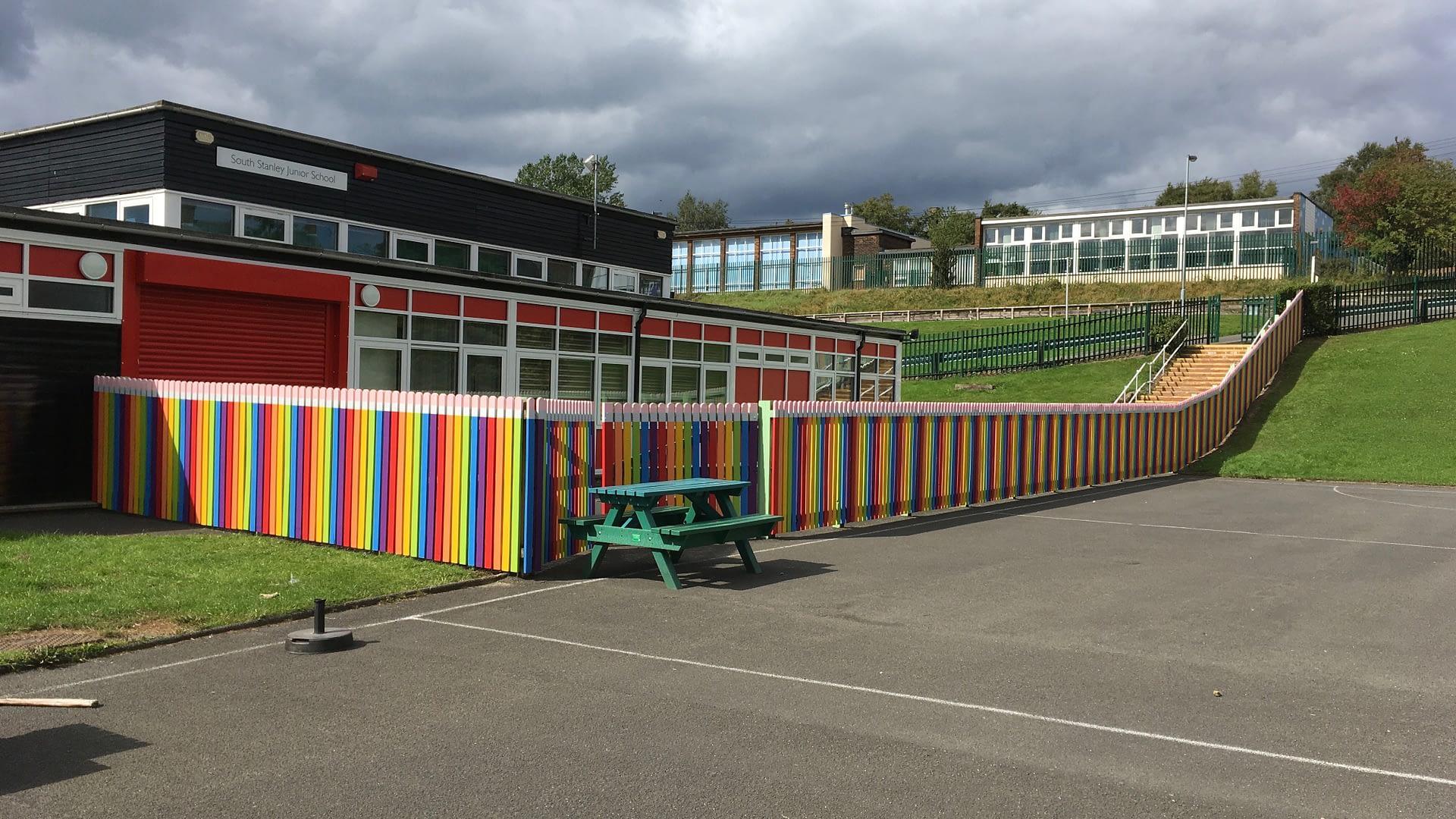 School Fence ( South Stanley Junior School )