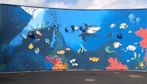 Underwater Scene Outdoor Mural