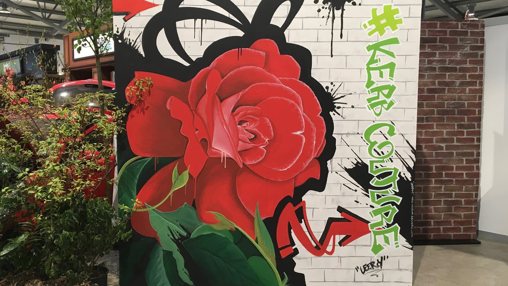 Harrogate Flower Show 2019 Rose Mural