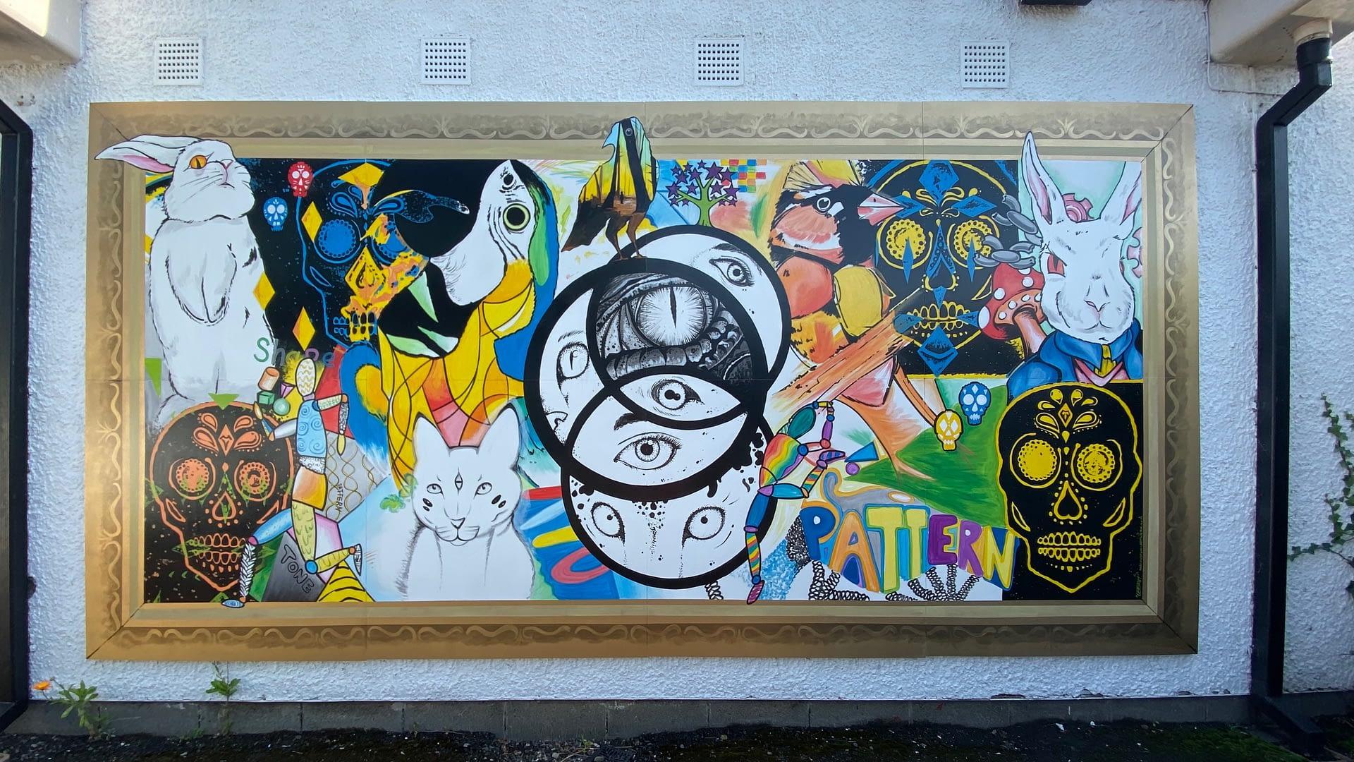 Belmont Pupils artwork Mural