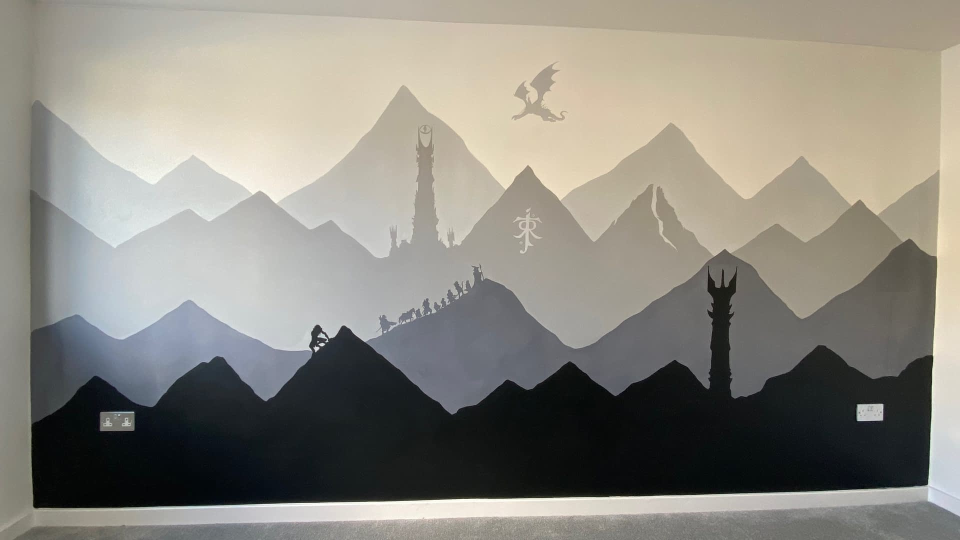 Lord Of The Rings Mural