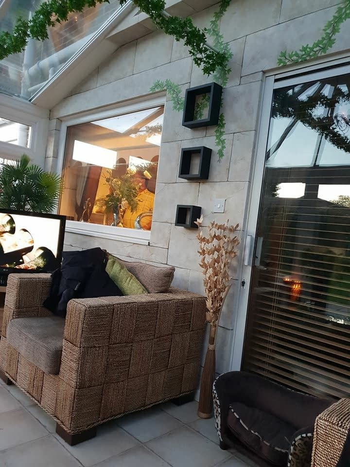 Faux Stone wall  Conservatory