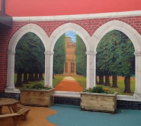 Outdoor Columns and Arches Trompe l'oeil