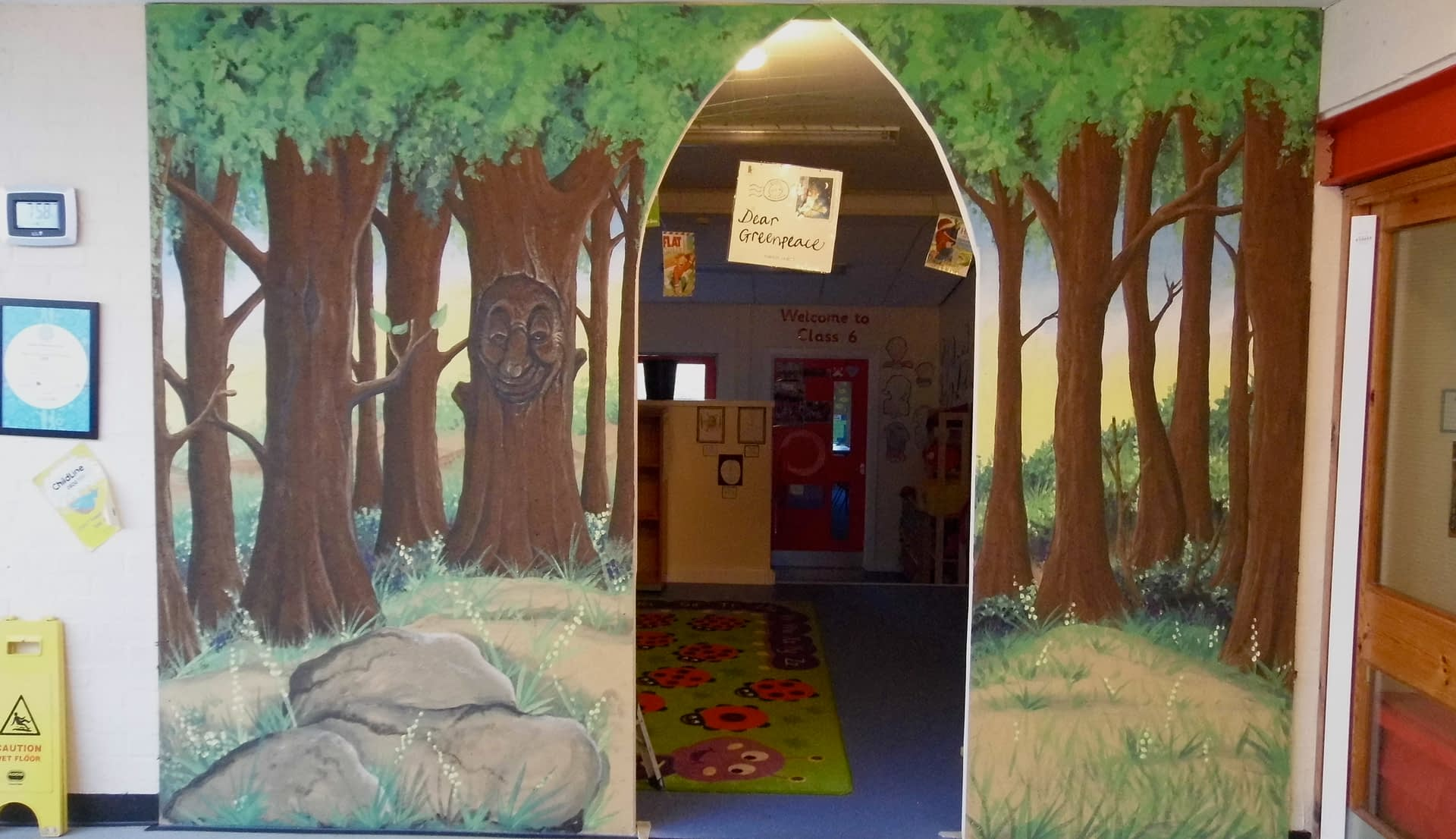 School Library Entrance Mural