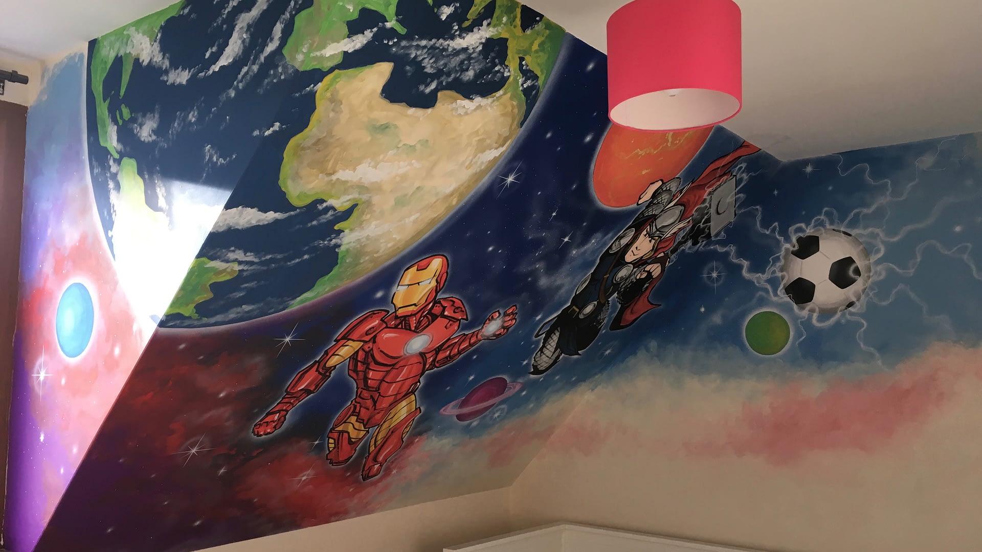 Iron Man & Thor space Mural