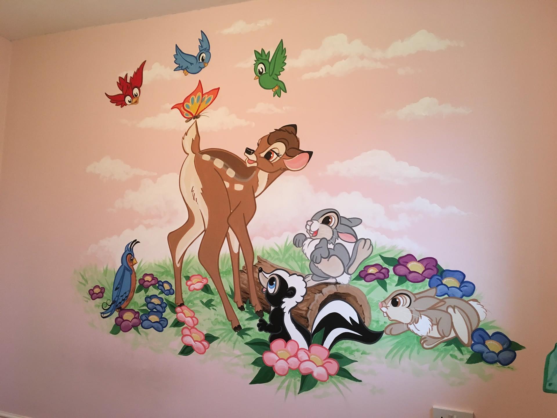Bambi Nursery Mural