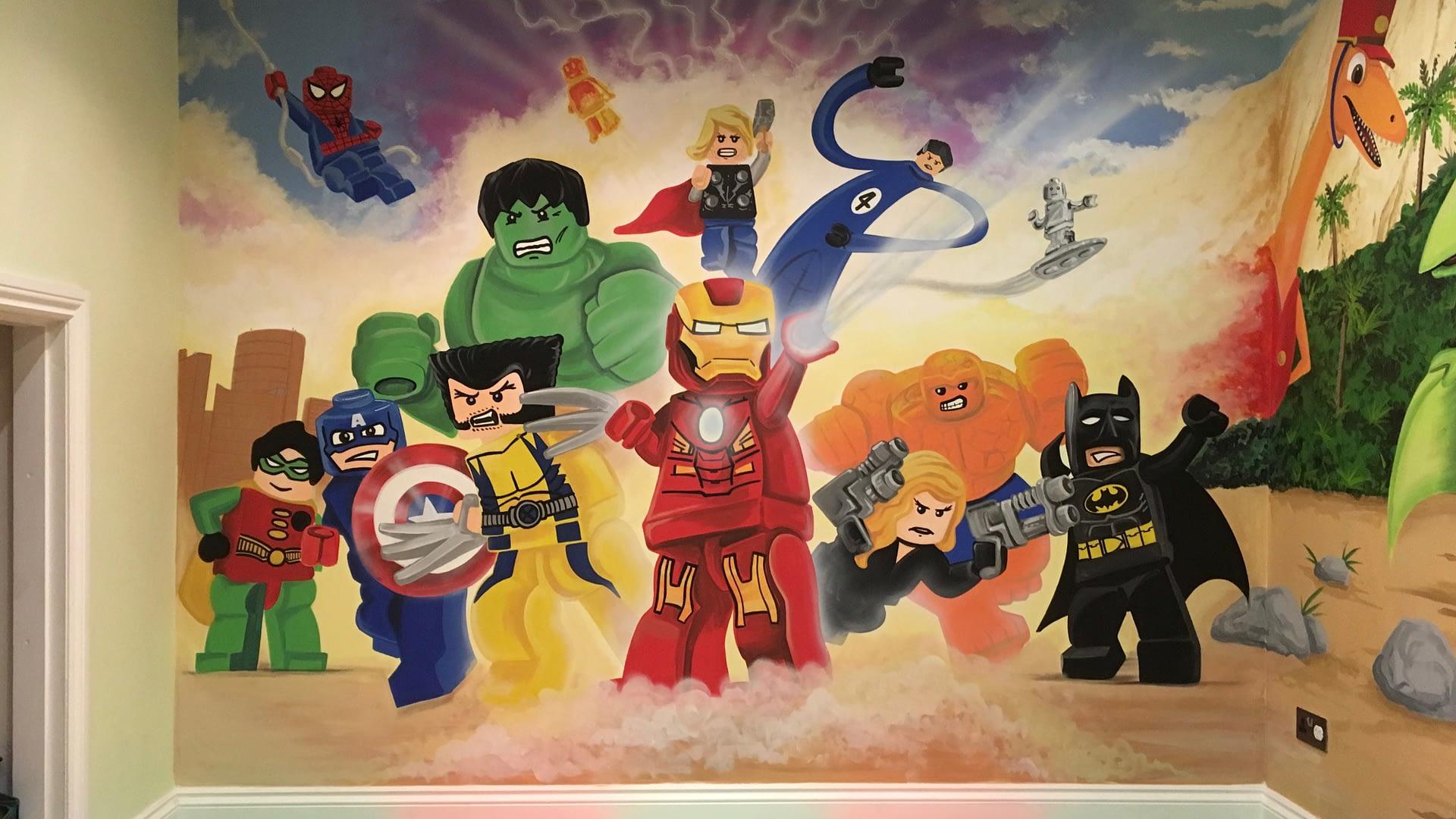 Lego Heroes Mural