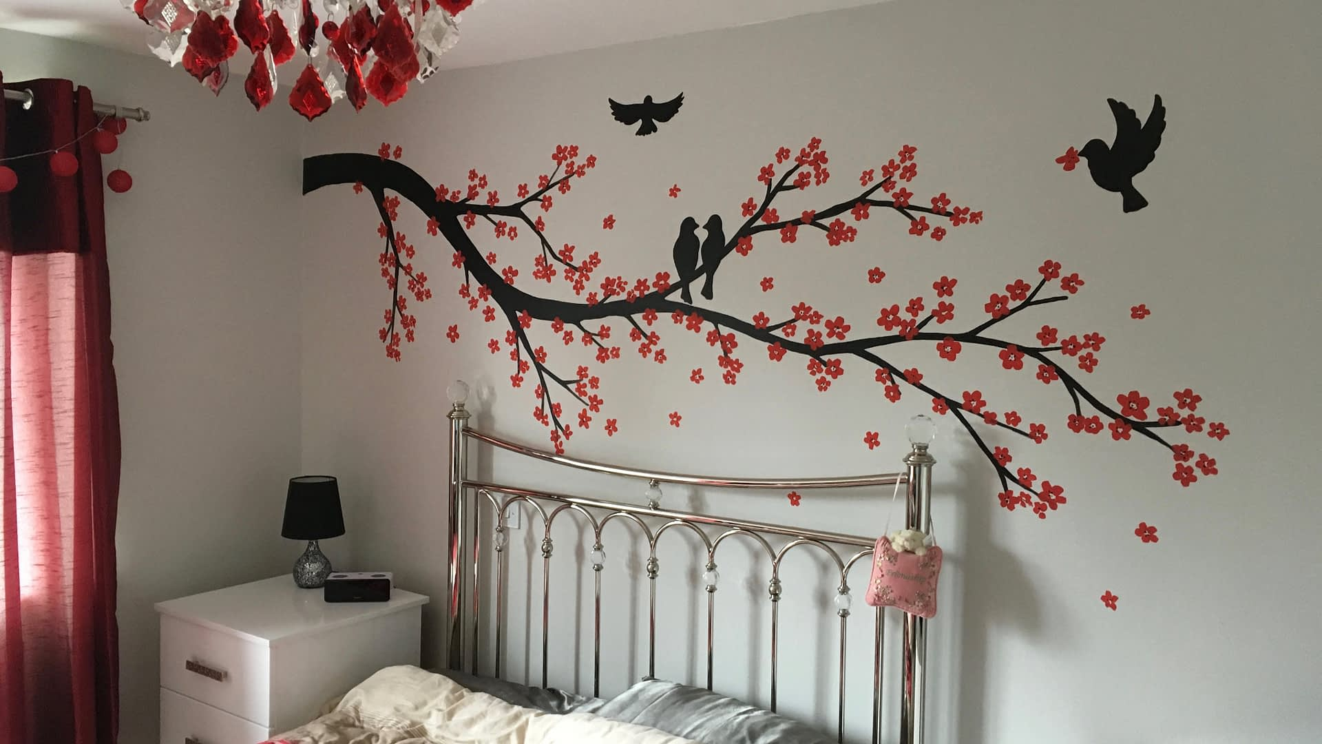 Blossom And Birds Mural